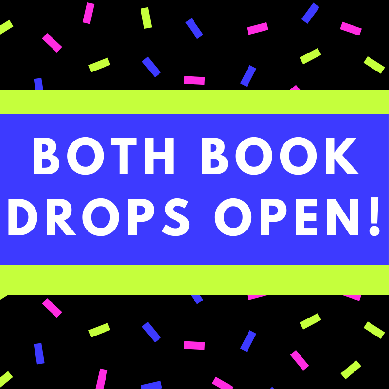 Both book drops open!