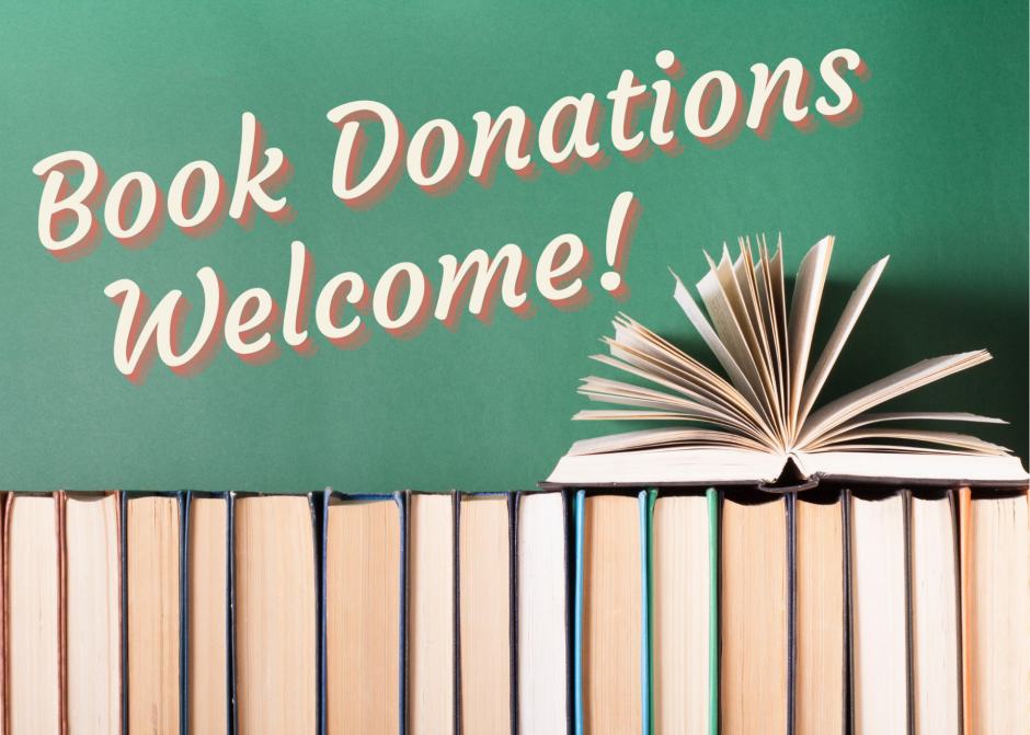 Book Donations Welcome!