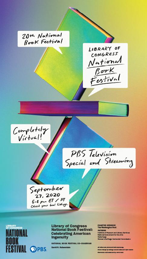 Poster for the Library of Congress National Book Festival: Celebrating American Ingenuity