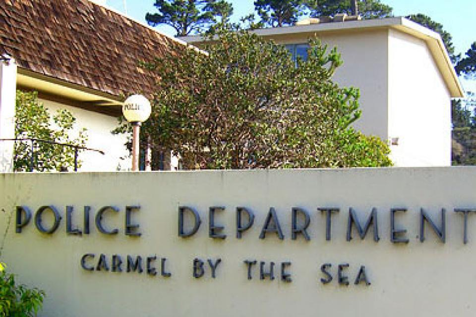 Entrance to Carmel Police Department
