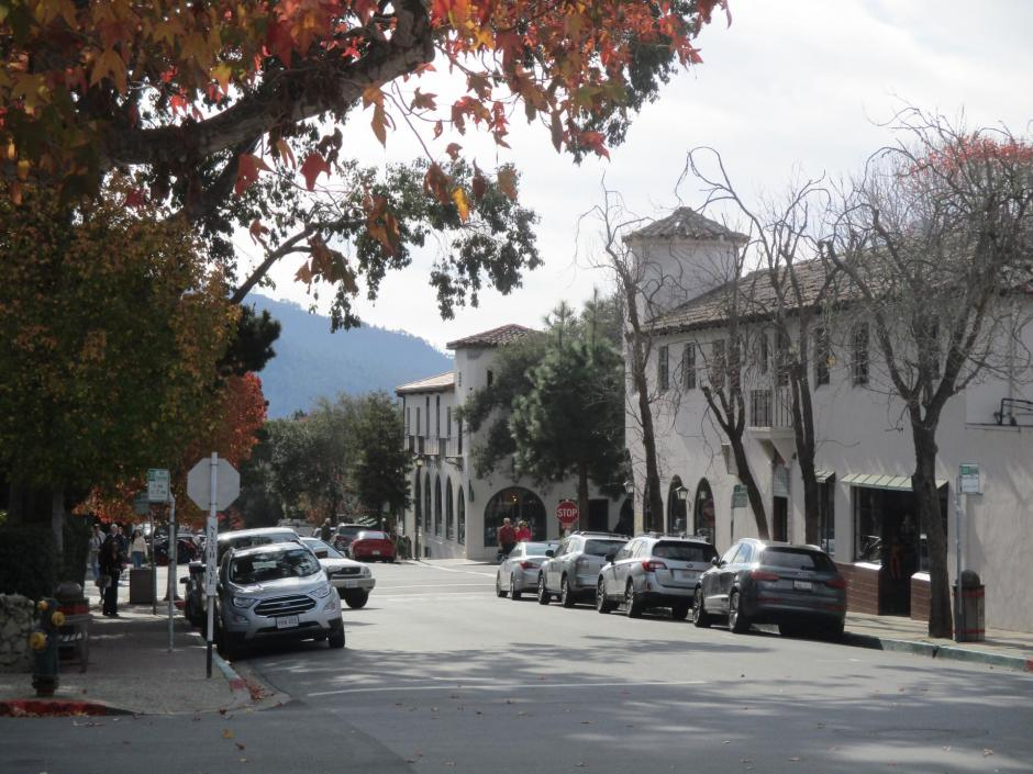 cars parked on Mission Street in Carmel